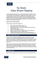 Tip Sheet: Value Stream Mapping - Wrap