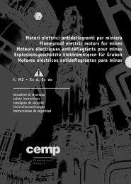 Motori elettrici antideflagranti per miniera Flameproof ... - CEMP