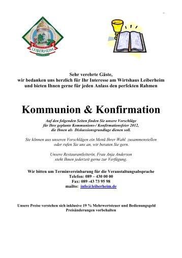Kommunion / Konfirmation - Leiberheim