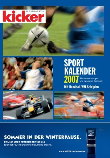 kicker-sportmagazin Sportkalender 2007