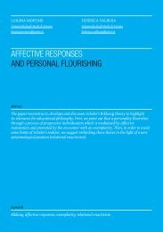 AFFeCtIVe ResPonses AnD PeRsonAL FLoURIsHInG