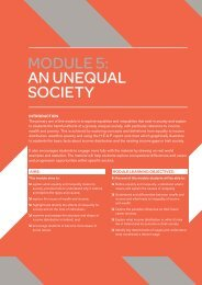 MOdUle 5: aN UNeqUal SOcIeTY - Youth Connect