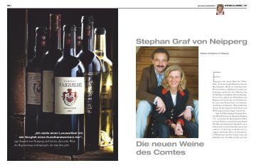 Stephan Graf von Neipperg Die neuen Weine des Comtes