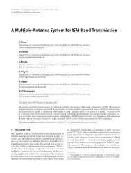 A multiple antenna system for ISM-band transmission