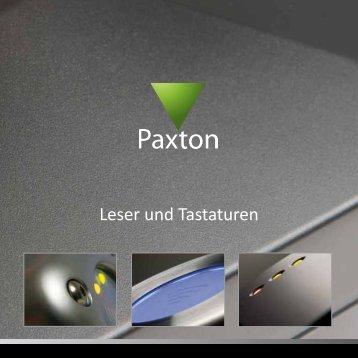 Leser und Tastaturen - Paxton GmbH