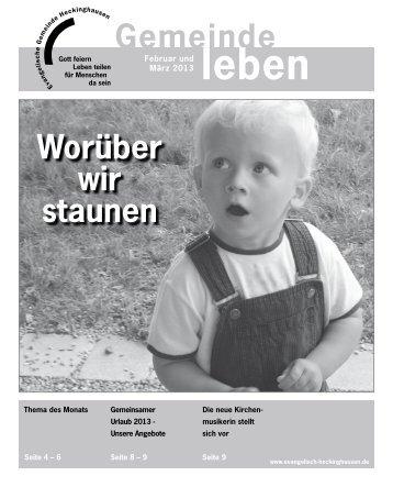 Gemeindebrief Heckinghausen 02+03 2013 - Vereinigte ...