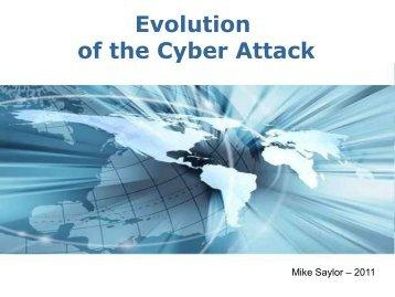 Evolution of Cyber Attacks - ISACA North Texas