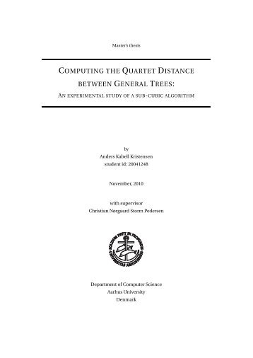 computing the quartet distance between general trees