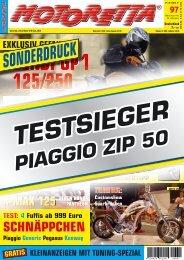 Testsieger Piaggio Zip 50 4T - April 2006
