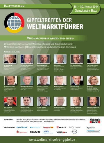 Gipfel 2014 - Gipfeltreffen der Weltmarktführer