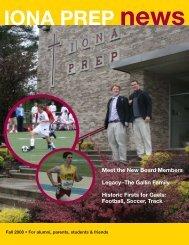 2008 Fall Issue - Iona Preparatory School