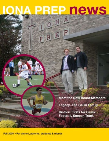 2008 Fall Issue - Iona Preparatory School
