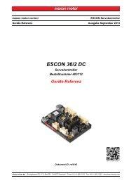 ESCON 36/2 DC Geräte-Referenz - Maxon Motor ag
