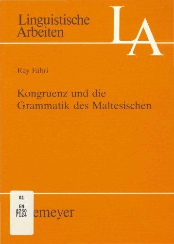 Linguistische Arbeiten