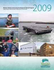 Western Alaska Community Development Quota Program - wacda