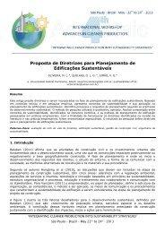 Proposta de Diretrizes para Planejamento de Edificações ...
