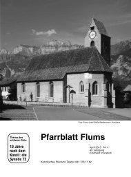 Pfarrblatt Flums - justus-flums.ch