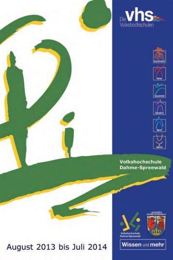 2013 Programmheft 30052013_Balken.indd - Volkshochschule ...