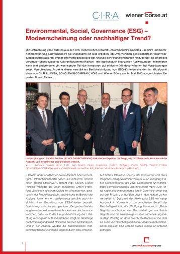 Sonderbericht - Wiener Börse