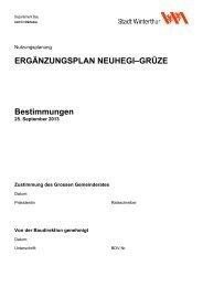 Bestimmungen(PDF, 619 KB) (öffnet neues ... - Stadtentwicklung