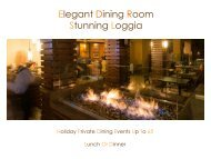 Private Holiday Dining - The Plaza Suites