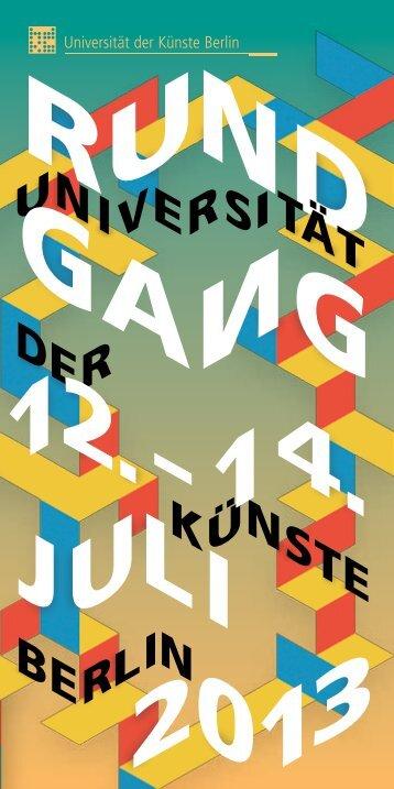 sem ign r len aus rsi- den en itet - Universität der Künste Berlin