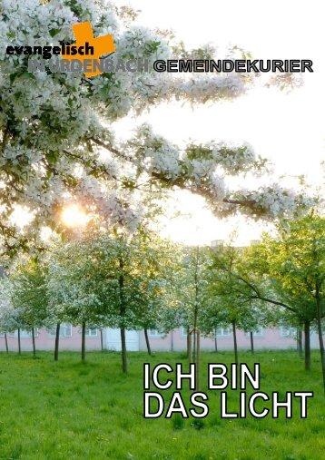 Gemeindebrief 1-2013 - Evangelisch in Urdenbach