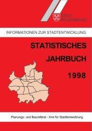 STATISTISCHES JAHRBUCH 1998 - Statistik.regensburg.de - Stadt ...