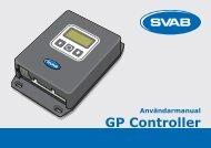 Användarmanual GP Controller - SVAB Hydraulik