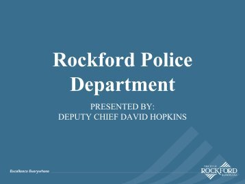 Rockford Police Department Citywide Scorecard - the City of Rockford