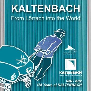 PDF: 125 Jahre KALTENBACH - Kaltenbach GmbH & Co. KG