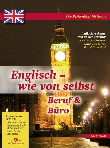 Englisch wie von selbst - Beruf und Büro - Verlagskontor