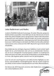 Programmheft - ADFC Bayreuth