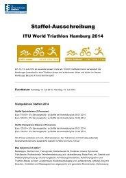Ausschreibung - ITU World Triathlon Hamburg