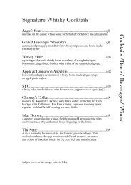 2013-07 Cocktails, beers, bev, wines - Angel's Share