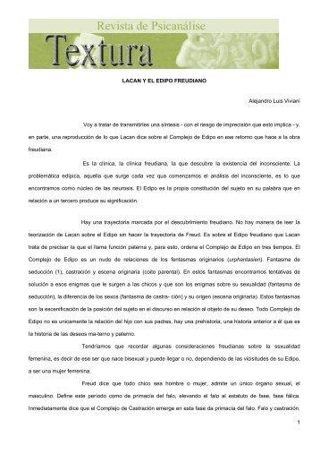 LACAN Y EL EDIPO FREUDIANO - Revista Textura