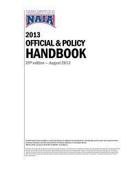 NAIA Official Handbook - Women's Basketball Coaches Association
