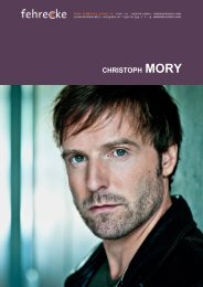 CHRISTOPH MORY - Fehrecke