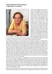 Gertrud Baumann-Humm - Reformierte Kirche Brittnau