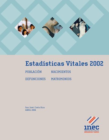 Estadísticas Vitales 2002: Población, Nacimientos, Defunciones ...