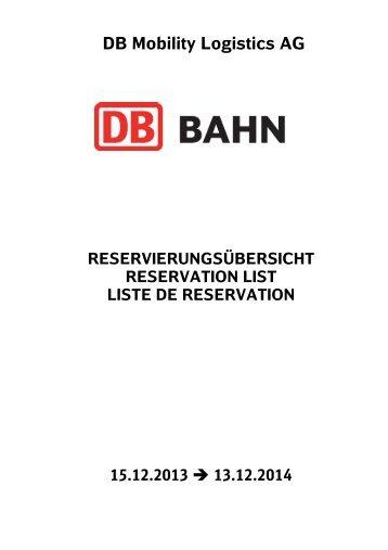 DB Mobility Logistics AG - Samtrafiken