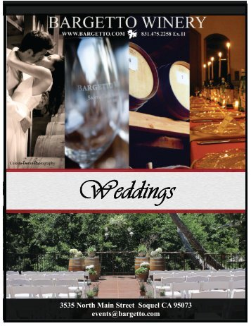 Weddings - Bargetto Winery