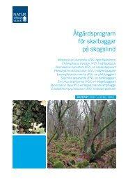 Åtgärdsprogram för skalbaggar på skogslind ... - Regional Red List