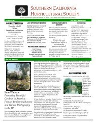 July 2012 - Southern California Horticultural Society