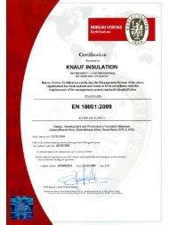 BV Knauf Group Certificate.pdf - Knauf Insulation