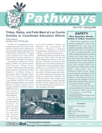 Pathways - Michigan Tech Tribal Technical Assistance Program