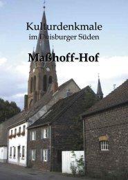 Maßhoff-Hof - Bürgerverein Duisburg-Huckingen eV