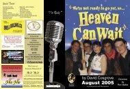 Heaven Can Wait Programme - Wyong Drama Group Inc