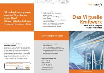 Das Virtuelle Kraftwerk - Energy & Meteo Systems