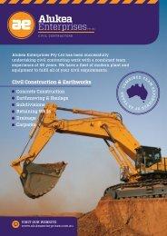 Civil Construction & Earthworks - Alukea Enterprises